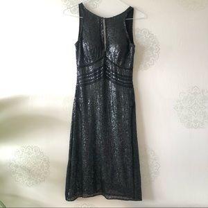 Stunning Scala Black Silk-Sequin Dress